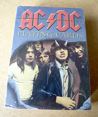 AC/DC Poker Size 52 Colour Playing Cards 2007 NEW & SEALED