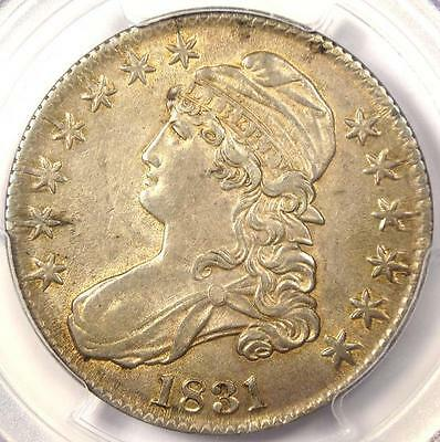 1831 Capped Bust Half Dollar 50C - PCGS AU Details - Rare Certified Coin!