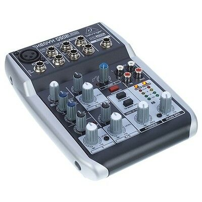 behringer xenyx q502usb 5 input 2 bus mixer usb audio interface with compressor