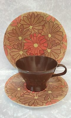 Retro/Vintage Bessemer Cup Saucer and Plate Melamine 1960's 1970's Trio