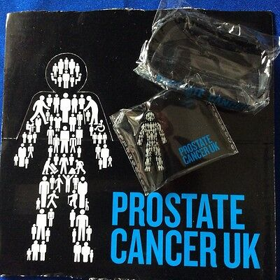 Prostate Cancer Pin Badge and Wristband offer