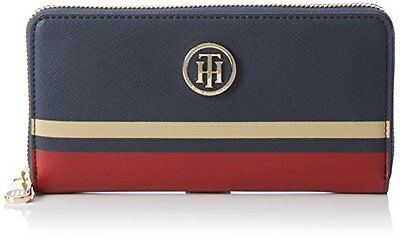 (TG. 75 cm) Midnight / Scooter Red / Oatmeal Tommy Hilfiger Honey Za Wallet Stri