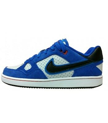 Nike Son Of Force Sneakers Basse Modello Air Force Pelle Uomo Donna Bianco Royal
