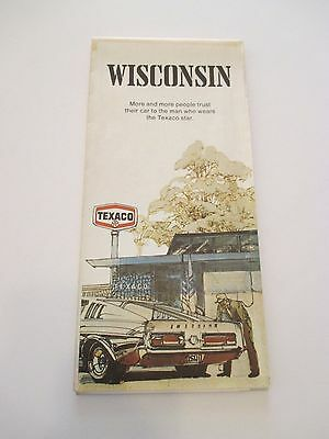 Vintage 1971 WISCONSIN Oil Gas Service Station Road Map