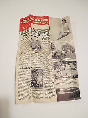 Vintage 1951 ESSO ROAD NEWS AND DETOUR MAP~OH PENN WV VA DE MD DC