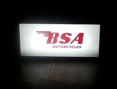 BSA Birmingham Small Arms MOTORCYCLE THEMED LIGHTED SIGN