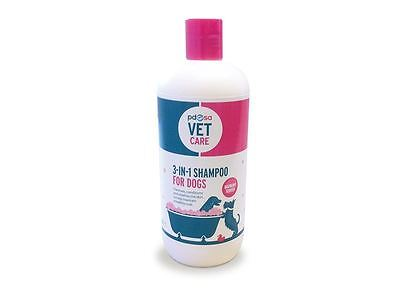 PDSA Vet Care 3-in-1 Shampoo for Dogs Antifungal & Antibacterial  500ml
