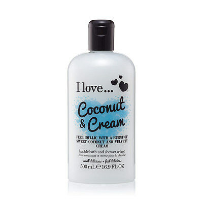 I Love... Coconut & Cream Bubble Bath And Shower Creme 500 ml NEU