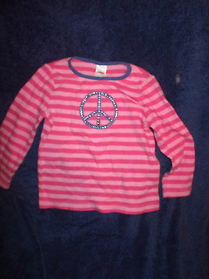 Gymboree Girls Long Sleeve Striped T-Shirt Top Size 4-  Super Star