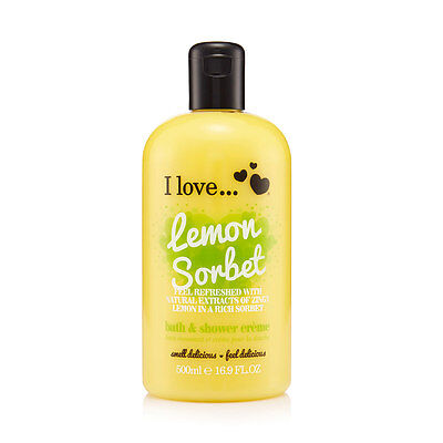 I Love... Lemon Sorbet Bubble Bath And Shower Creme 500 ml NEU