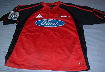 Crusaders New Zealand Rugby Union Large Mans Adidas Player Issue Home Jersey