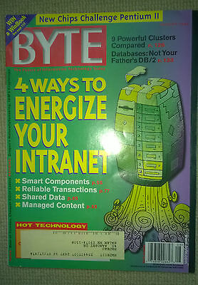 Vintage Byte Magazine -August 1997 Issue VOL 22, Number 8 Energize your intranet