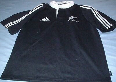 New Zealand All Blacks Rugby Union Large Mans Adidas Made Vintage Home Jersey