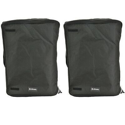 """2 x Citronic 12"""" Padded Speaker Transit Bag Carry Case - Fits Most 12"""" Speakers!"""