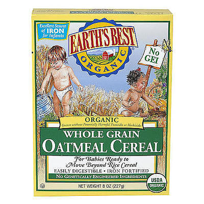 Earth's Best Organic Whole Grain Oatmeal Cereal for Babies - 8 Ounce