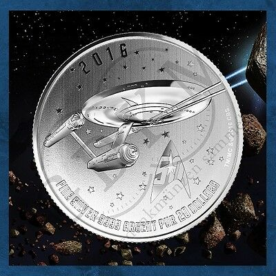 Kanada - Star Trek - Enterprise - 20$ 2016 BU Silber