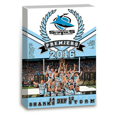 2016 PREMIERS Premiership NRL CRONULLA SHARKS Team Image Wall Canvas Picture