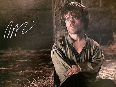 (Game Of Thrones) Peter Dinklage Original Hand signed photo 12x8 With COA