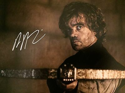 """(Game Of Thrones) Peter Dinklage"""" Original Hand signed photo 12x8 With COA"""