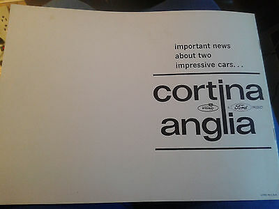 Ford British Catalog: Cortina And Anglia  1965