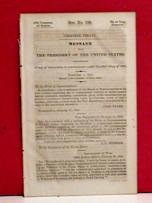 Message of President-Instructions to Commissioners under Cherokee Treaty-1843