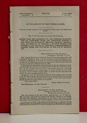 Senate Report-An Agreement with the Indians of the Fort Belknap Reservation-1895