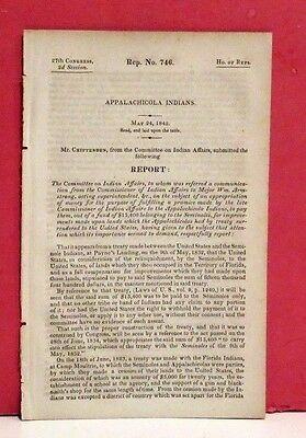 House of Representatives Report-Payment of Clams to Appalachicola Indians-1842