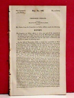 House Report-Claim of Cherokee Indians under Treaties of 1835-36 and 1846 -1854