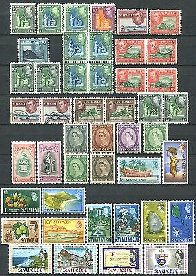 ST. VINCENT Lot of Mint MH / MNH & Used Stamps