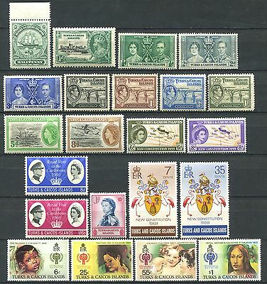 TURKS & CAICOS ISLANDS Lot of Mint Stamps MH / MNH