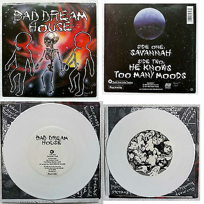 """Bad Dream House - Savannah/He Knows/Too Many Moods - 7"""" - White Vinyl - Nuovo"""