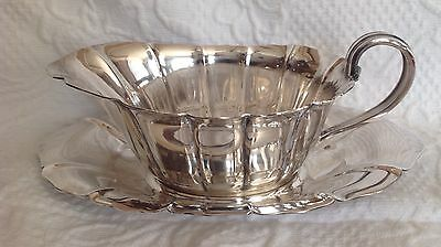 Reed and Barton Silver Plate Gravy Boat with Underplate