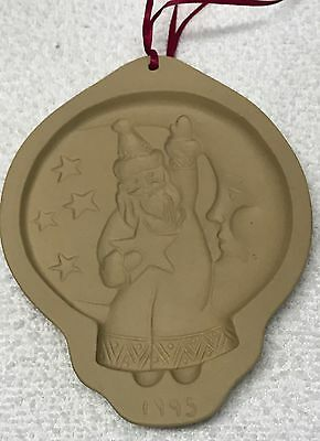 1995 SANTA IN THE MOON Brown Bag Cookie MOLD Christmas Hill Design holiday new