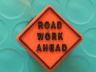 Road Work Ahead Sign Jibbitz Charm Fit Holey Accessories Croc Clog Shoe Bracelet