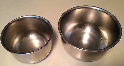 Vintage Stainless Steel Pair of Mixing Bowls, 1 Quart & 1-1/2 Quart