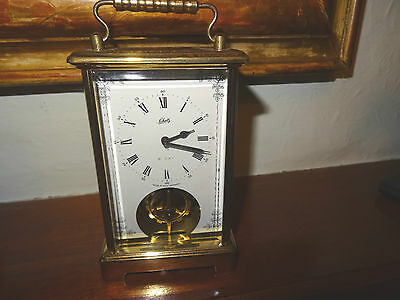 Vintage Schatz 8 Day Brass Carriage Clock. Works, Made In West Germany N0.59