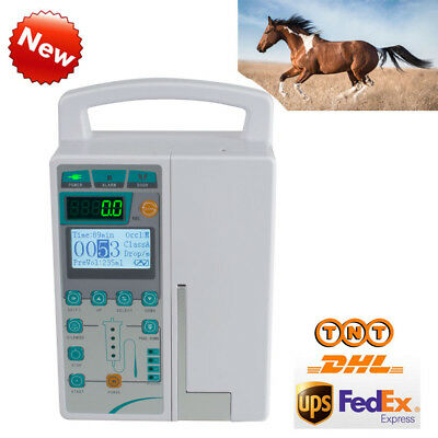 Infusion Pump IV Fluid Infusion With Audible Alarm Human/VET/Animal Sale New CE