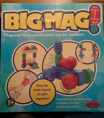 Big Mag magnetic construction toy for toddlers (like Geomag)