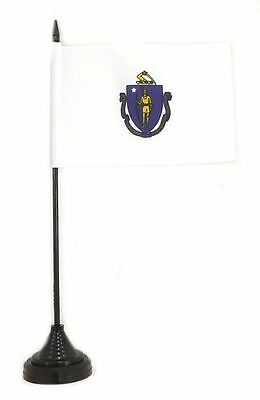 Tischfahne USA - Massachusetts 10 x 15 cm Fahne Flagge