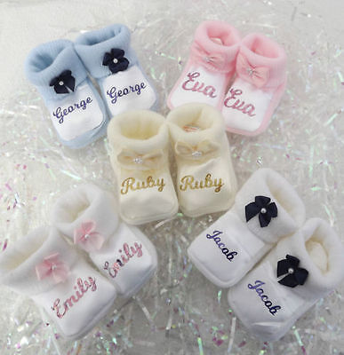 Personalised baby booties