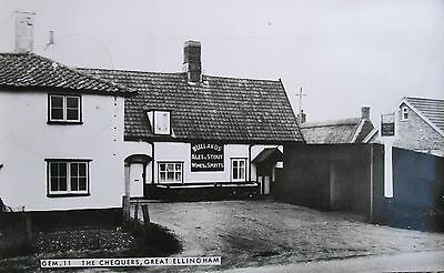 The Chequers Ph Great Ellingham Norfolk Early Rp Pc