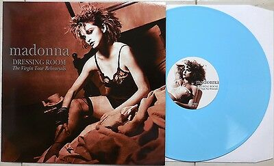 MADONNA, VIRGIN TOUR REHEARSALS, SKY BLUE COLORED VINYL, RARE LIVE LP 100 made
