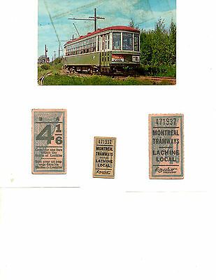 Montreal Tramway Ticket And Postcard ( Offer 1788)