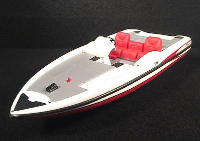 2002 Ertl Triton Tr-21 Bass Boat Metal Boat Red & White Vintage 1:18 Scale Model