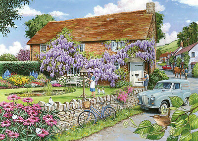 The House Of Puzzles - 250 BIG PIECE JIGSAW PUZZLE - Wisteria Cottage Big Pieces