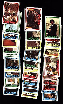 1975 Kojak Tv Series Trading Card Set 72 Puzzle Back Monty Gum Nm+