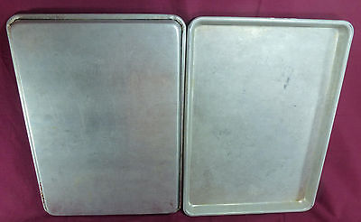 LOT of 2 - Half Size 18x13 Aluminum Baking Sheet Pan Commercial Grade Quality