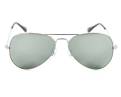 Ray Ban RB3025 Aviator Classic Silver Frame Grey Mirror Lens Sunglasses 55mm