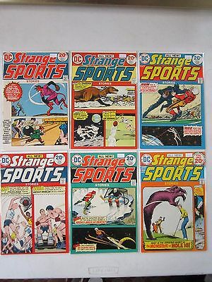 Dc Comics Strange Sports #1-6 Full Run 1973-74 Vf Condition