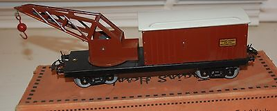Hornby Series O Gauge French Breakdown Wagon With Crane In Sncf Livery Mib